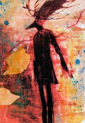 Deer woman by Judy Willoughby, Painting, Acrylic on paper